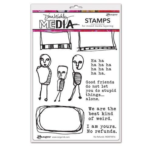 Dina Wakley No Refunds Stamp