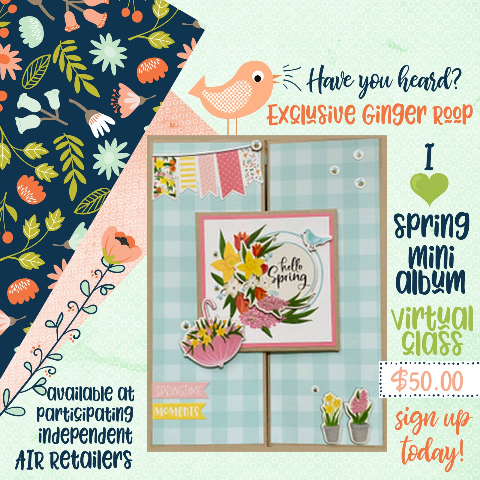 Ginger Ropp / Echo Park Spring Class and Kit