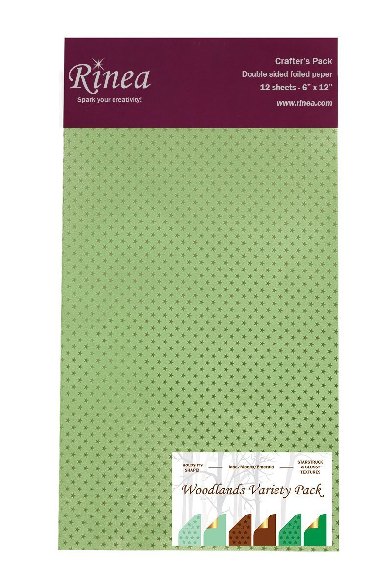 Rinea Foiled Paper Pack - Woodlands Variety Pack