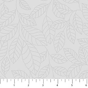Simply Neutral Grey Tone on Tone Leaves