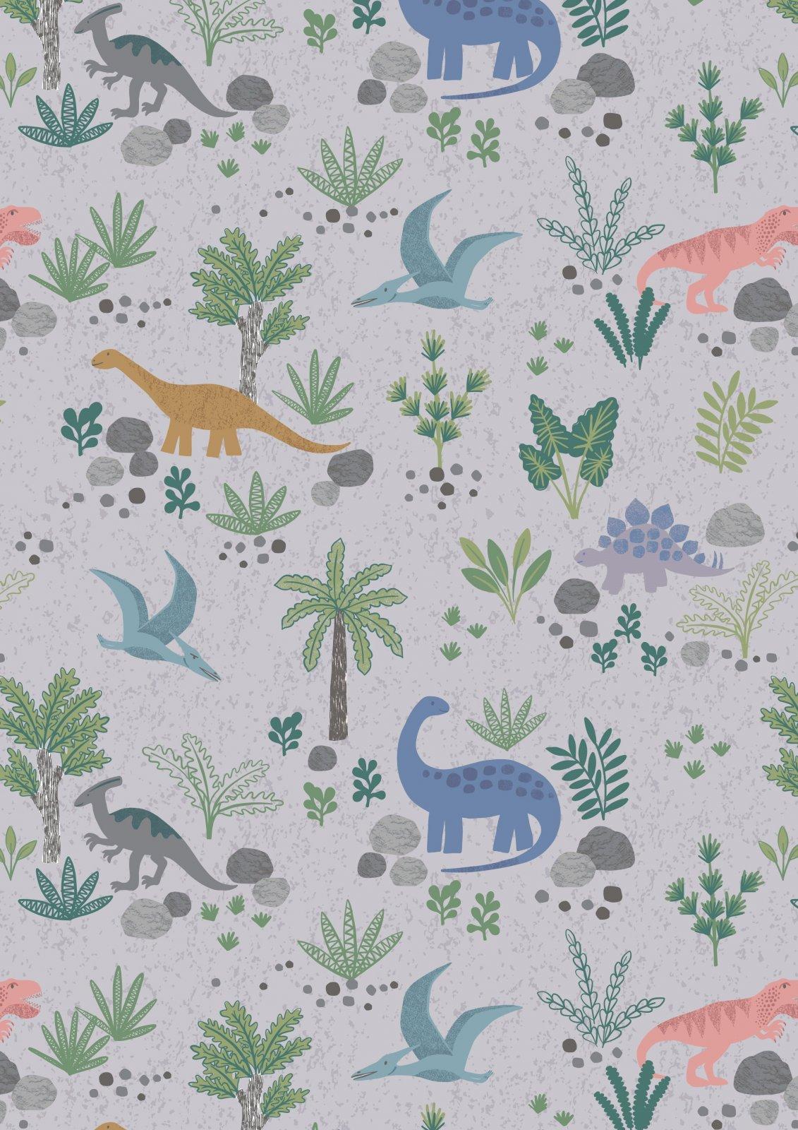 Kimmeridge Bay Land Dinos on grey