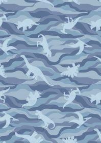 Kimmeridge Bay Blue Dino rock layers on blue