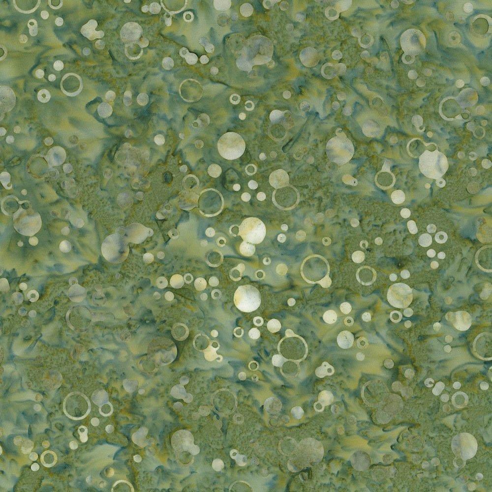Cantik Batiks Bubbles Green Inspirations