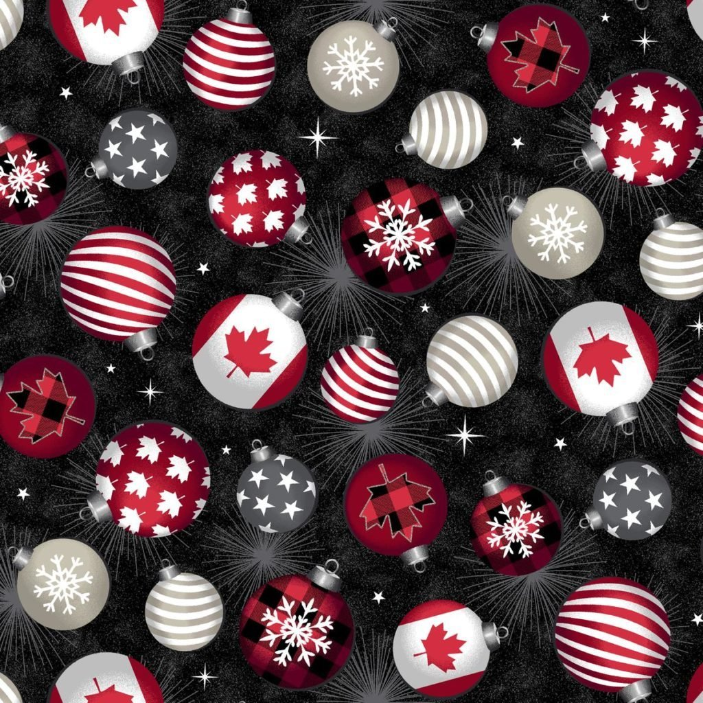 Canadian Christmas ornaments Windham Fabrics