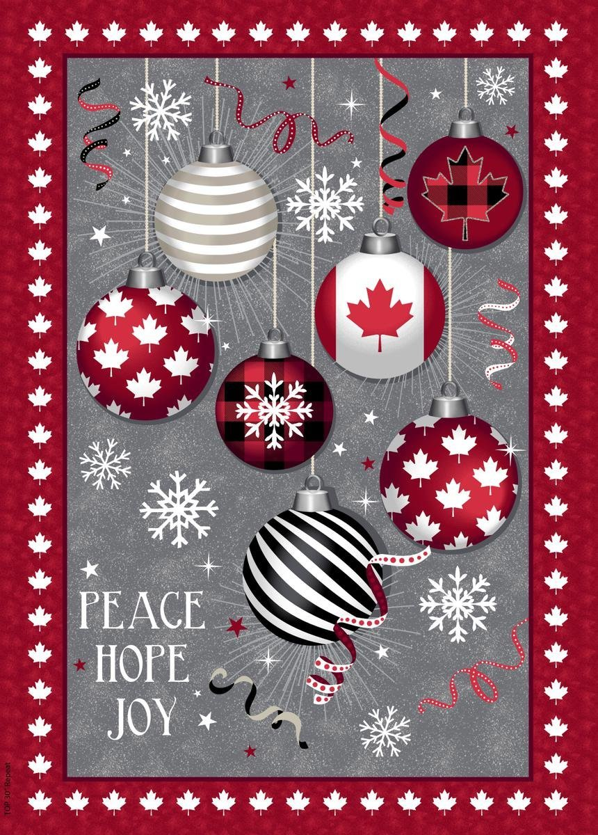 Canadian Christmas Panel 52235DP Windham Fabrics
