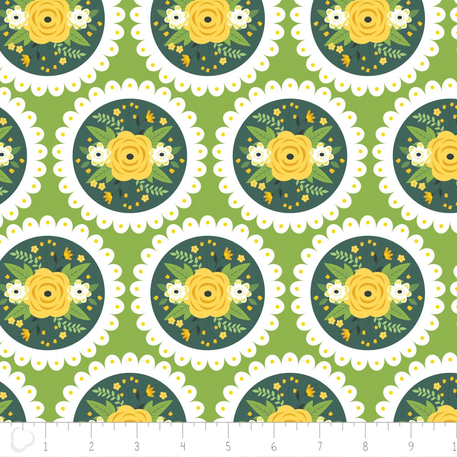 Bright Side- Doily in Green