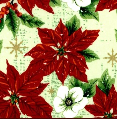 Christmas Cotton Poinsettia