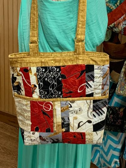 Musical Print Tote Bag