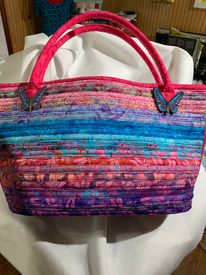 Quilted Beach Bag