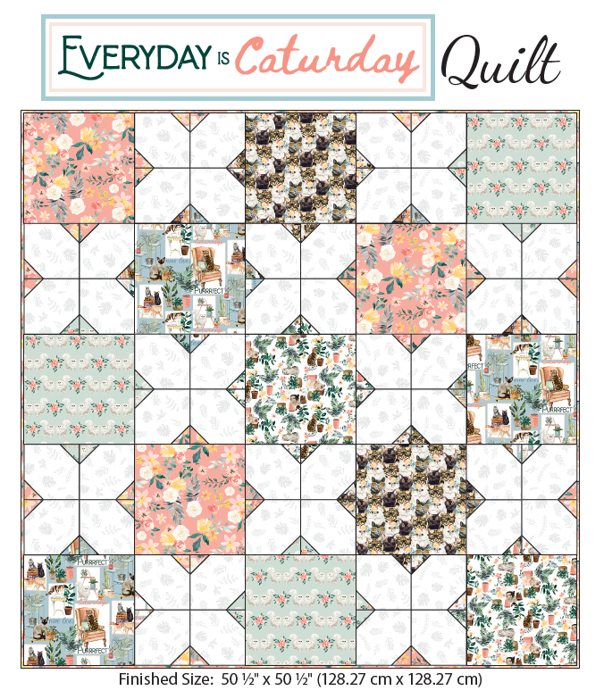 Everyday is Caturday Quilt Kit