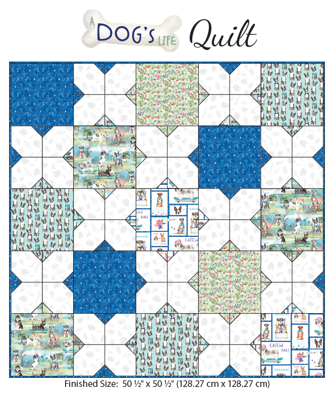 A Dog's Life Quilt Kit