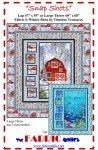 Winter Red Barn Quilt Kit