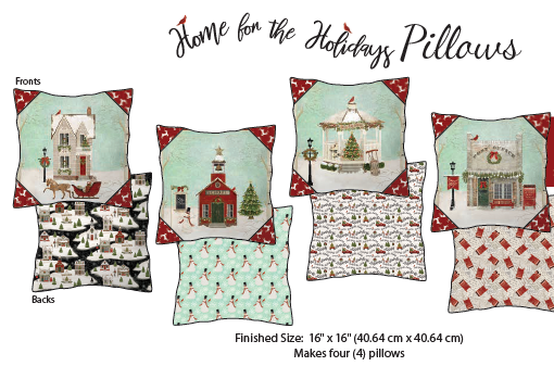 Home for the Holidays Pillows Kit
