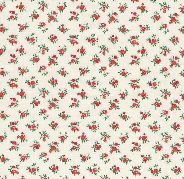Red Calico Bouquet Wide Backing 48310 RED