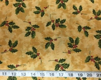 Christmas Traditions Gold Holly 3011 S