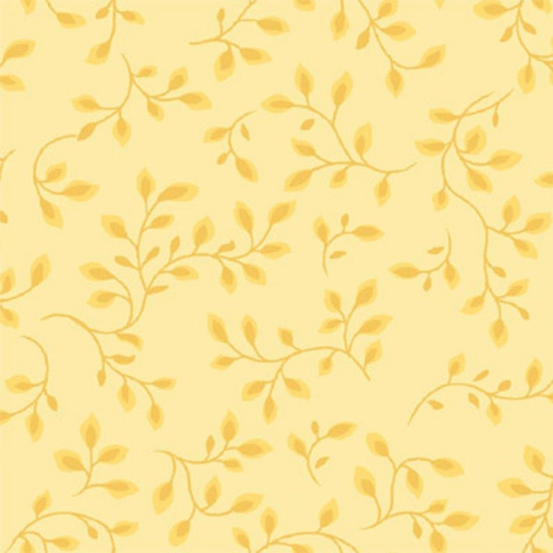 Folio Pale Yellow Leaf 108in Wide Backing