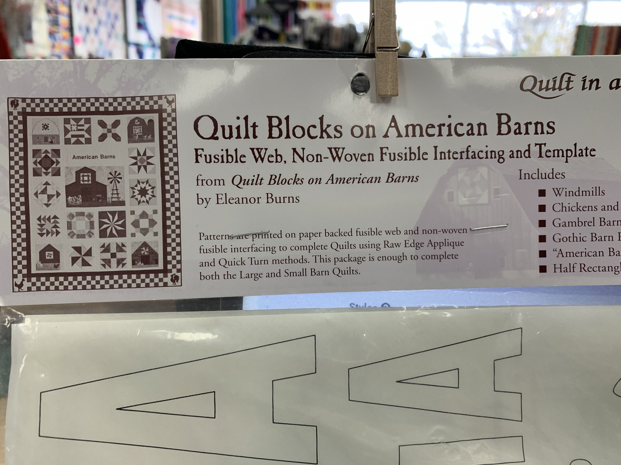 Quilt Blocks on American Barns Fusible and Template Kit