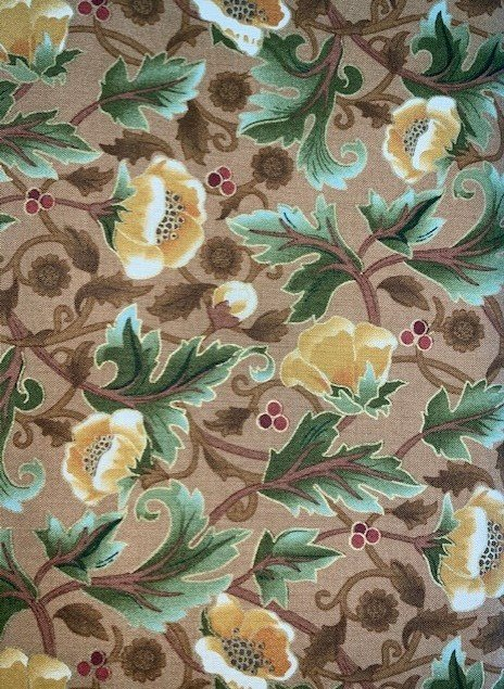 Holiday Chorus Brown w/ Flowers 3706 MN