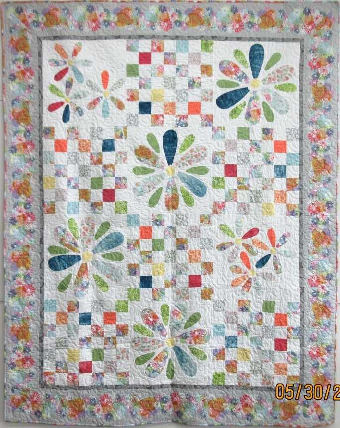 Judy's Big Flowers Quilt