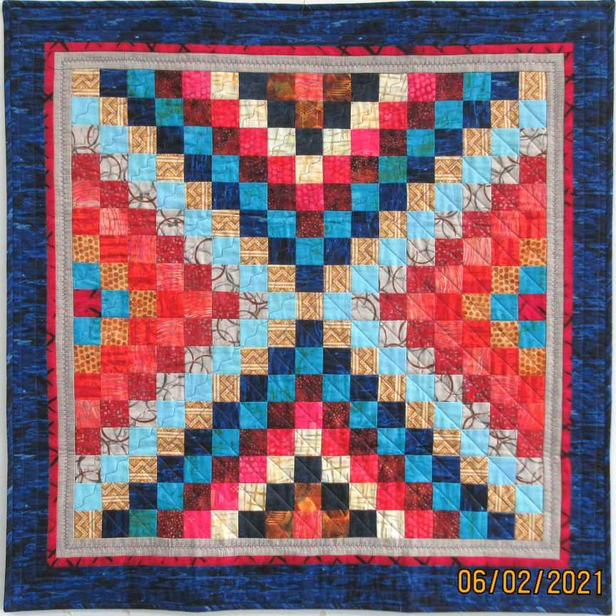 Carol's Journey to the Center of the Earth Quilt