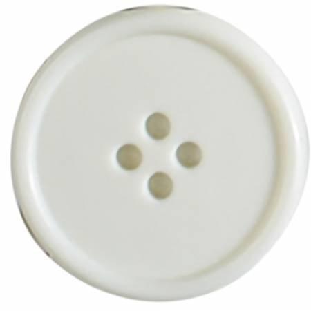 30mm White 4 Hole Polyamide Button 1 per Card