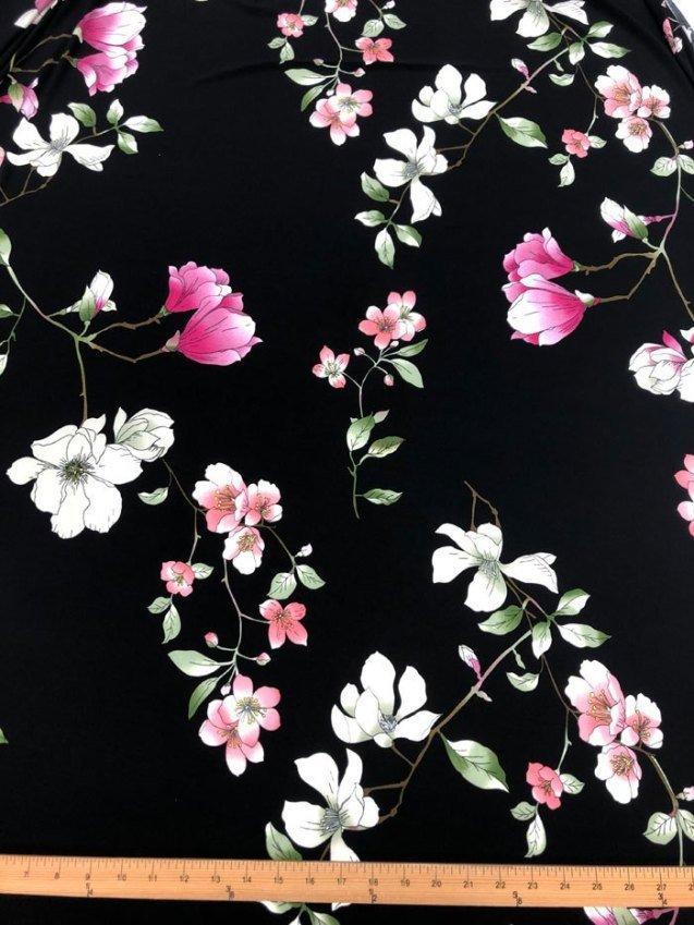 Peonies & Magnolias Knit Poly/Lycra