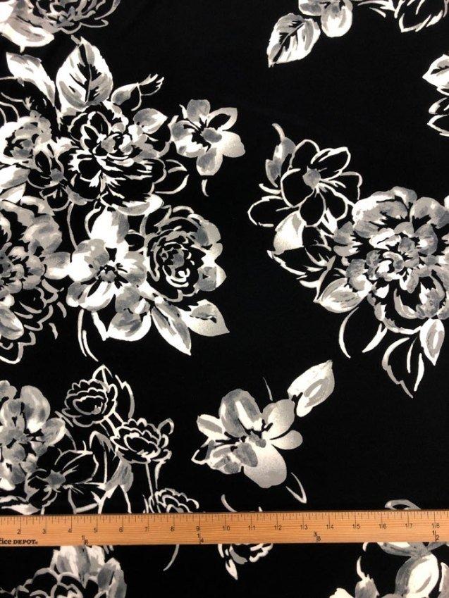 Floral Blooms Knit Poly/Lycra