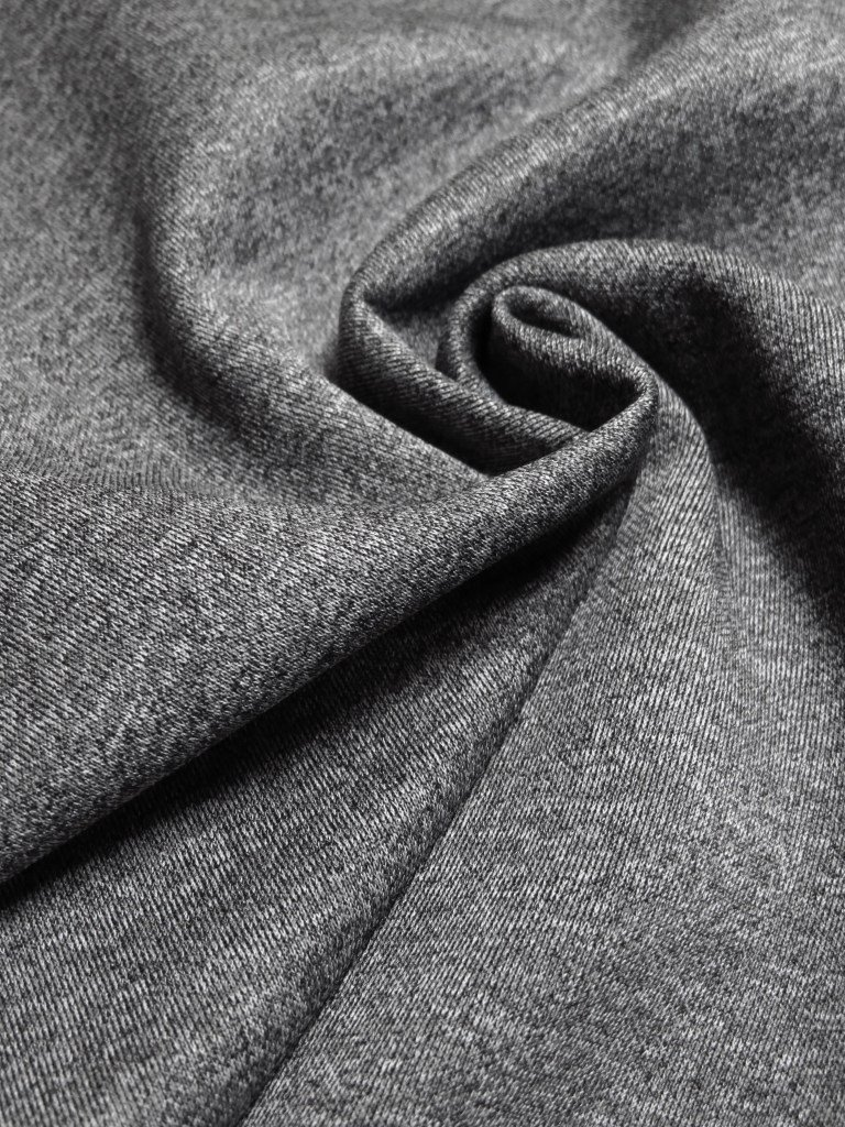 Heathered Gray Scuba Knit