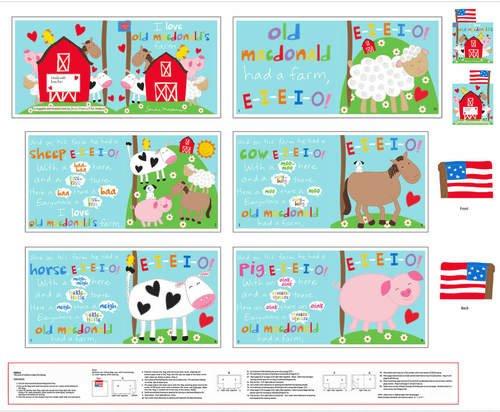 36 McDonald's Farm Book Panel