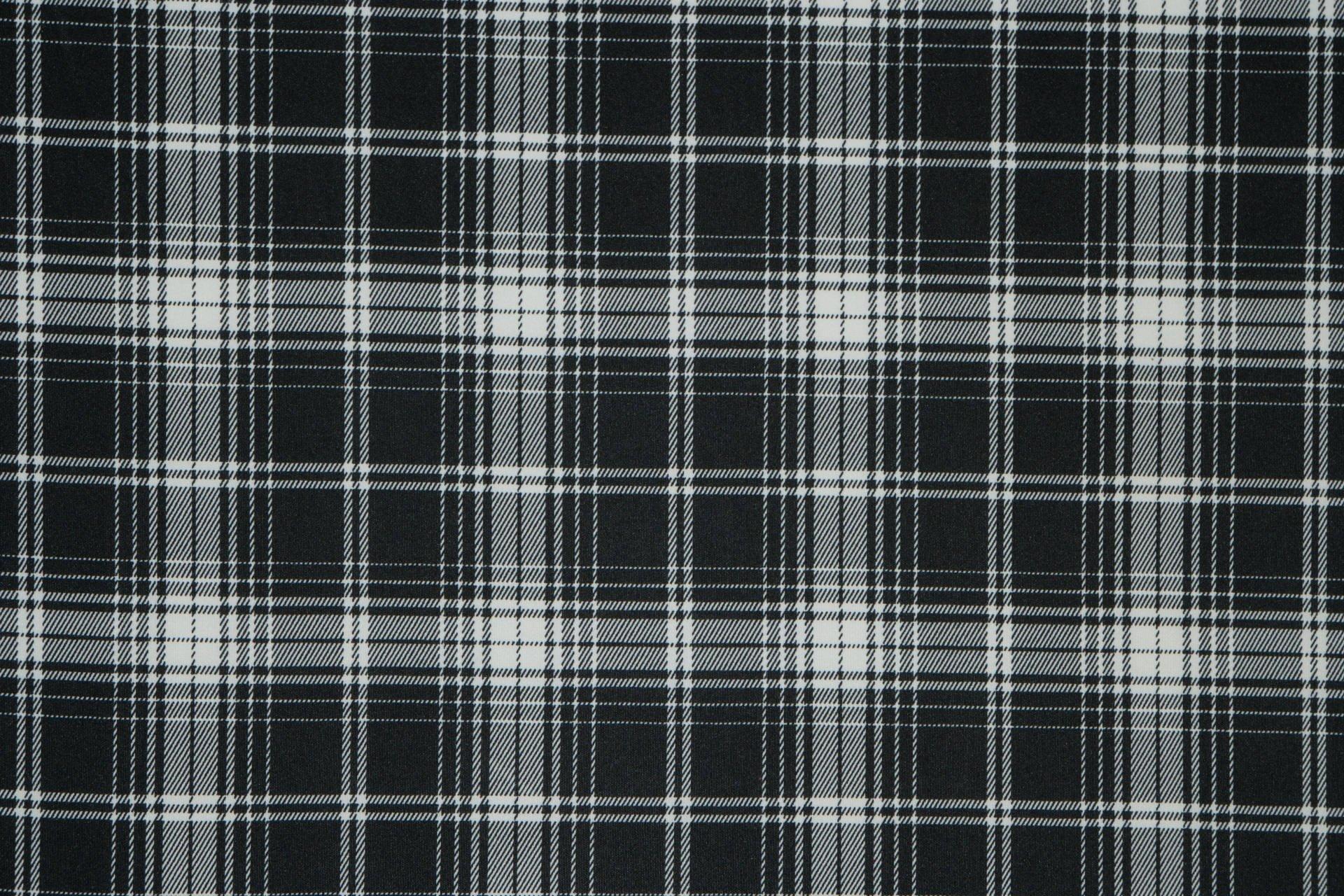 Blk/Wh Plaid Scuba Knit