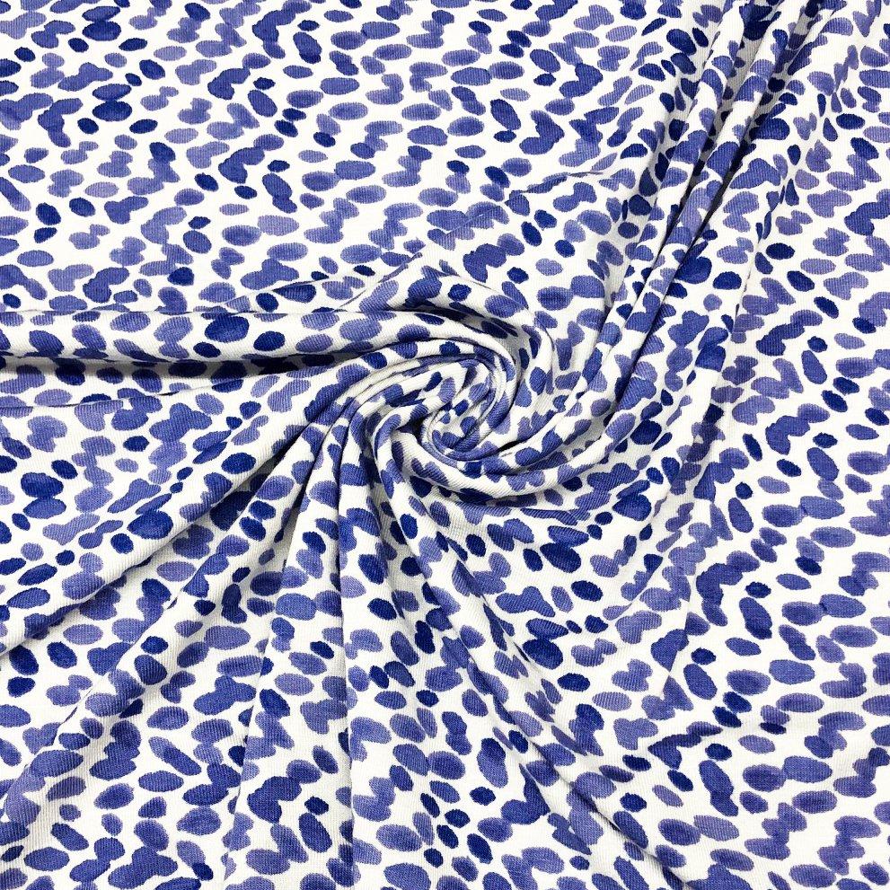 Purple Dots Jersey Knit