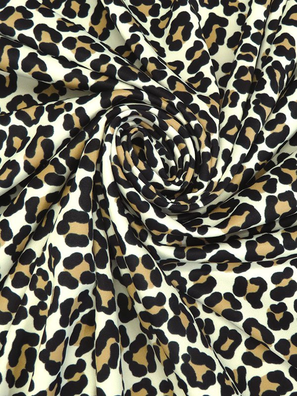 Leopard Print Poly/Lycra Knit