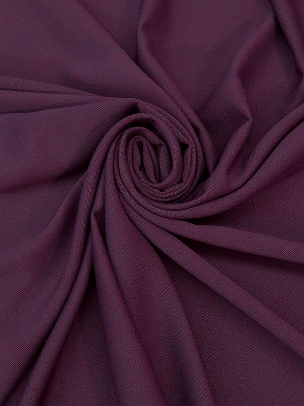 Old Mauve Purple 100% Poly Crepe Suiting