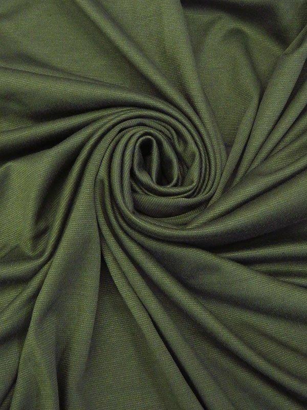 Dark Olive Green Poly/Lycra Ponte Knit