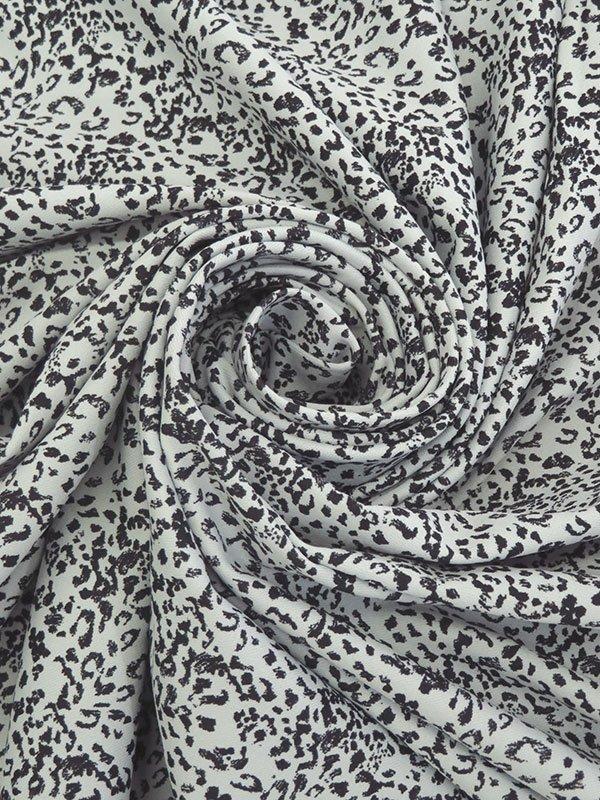 Light Gray/ Black Poly/ Lycra Micro Animal Print Activewear