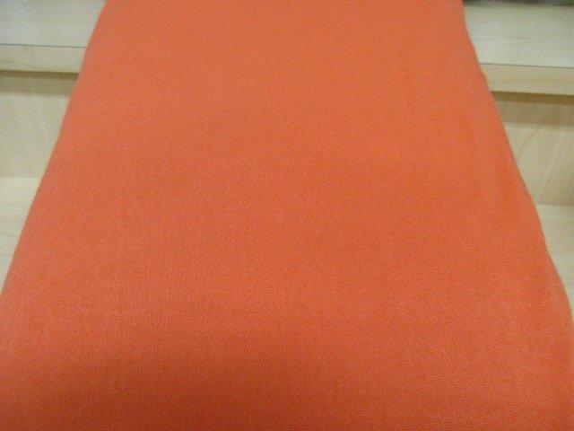 Orange Solid Rayon Knit