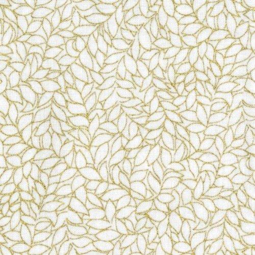 Leaf White/Gold Metallic