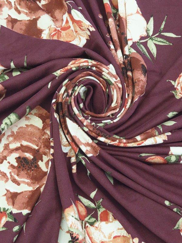 Floral Poly/Lycra Jersey Knit