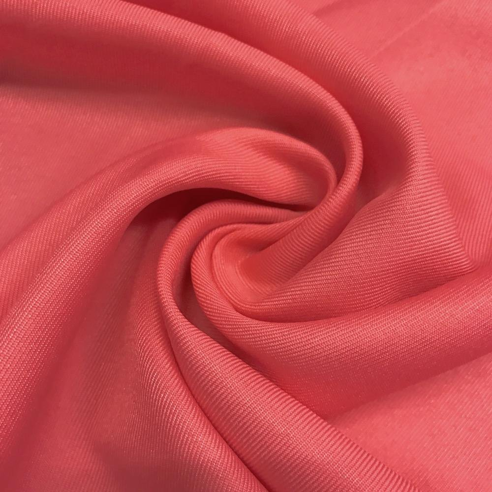 Polyester Twill- Coral