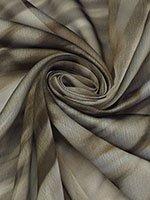 Soft Navy/White/Black Geometric Stripe Charmeuse 100% Poly