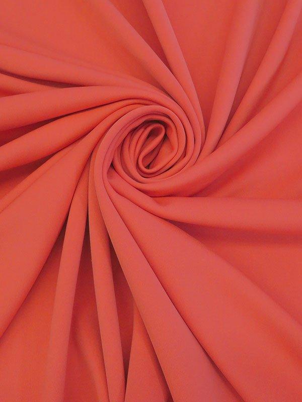 Coral  Poly/Lycra Scuba Knit