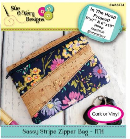 Sassy Stripe Zipper Bag
