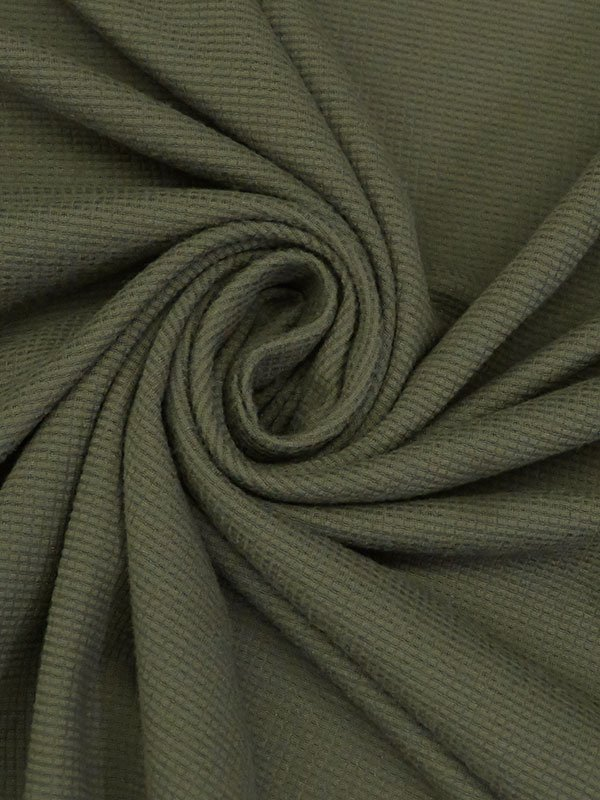 Olive Poly/Lycra Micro Activewear Knit
