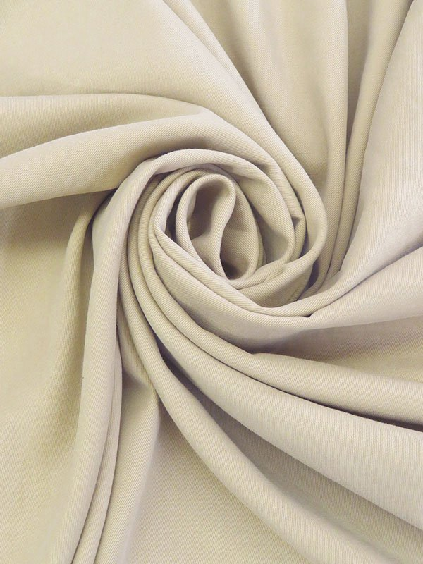 Sand Fossil Tan Cotton/ Lycra Twill- Imported From Italy