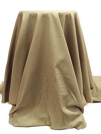 Ecru Cotton/Lycra Basket Weave Suiting