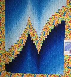 Two-Fabric Bargello Quilt Top : two fabric quilts - Adamdwight.com