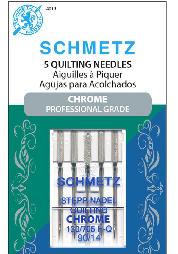 Schmetz Chrome Quilting Needle 5 ct, Size 90/14