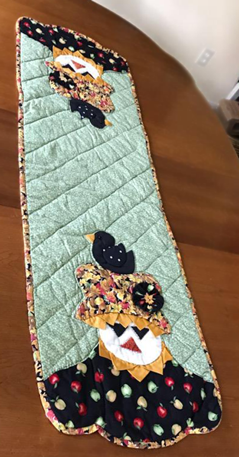 Scarecrow Table Runner - by Ginger Rutland