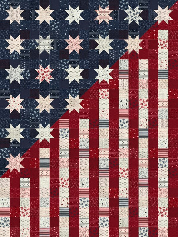 Available late Feb 2021  American gathering Quilt Kit by Moda fabrics