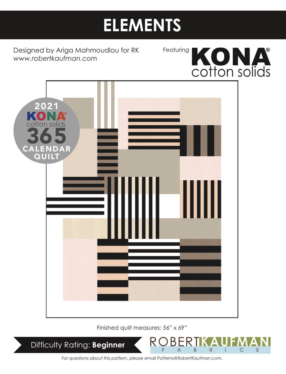 Kona Solids | Elements Quilt Kit